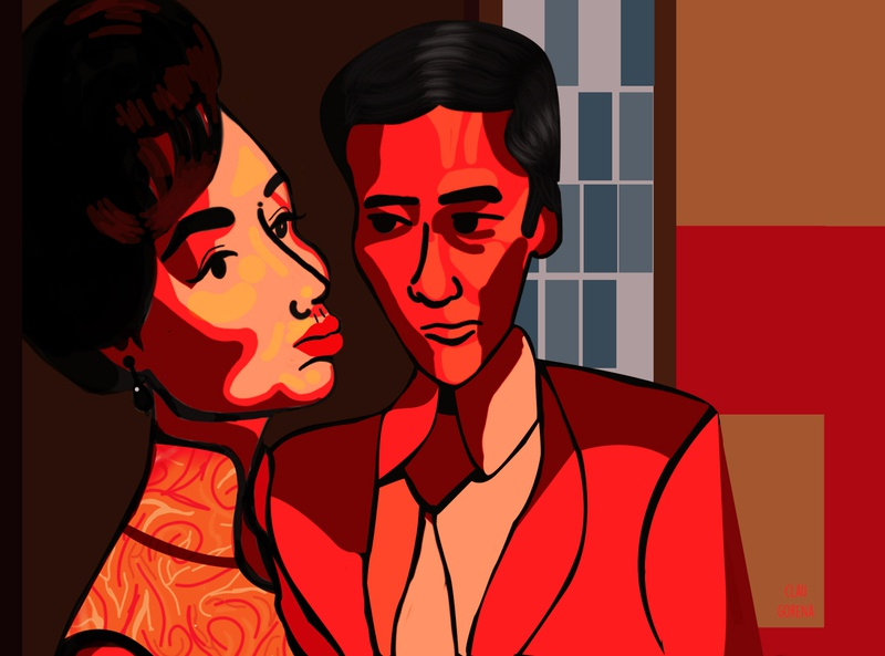 In the mood for love_Personal project illustration design frame by frame frame illustrator illustration art characterdesign illustrations illustration