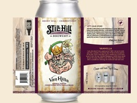VanHilla Virtual Mock connecticut pint illustration craftbeer label can brewery beer