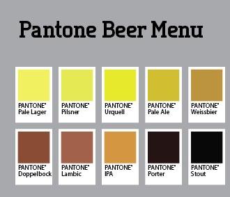 Beer Menu color swatch beer