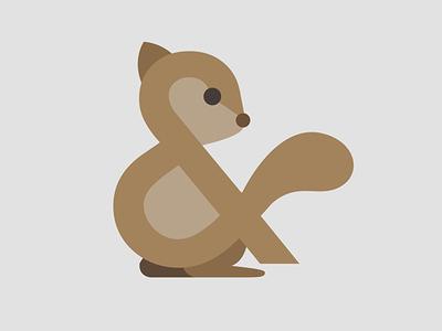 Ampersand-imal (Squirrel) design vector art illustration design drawing vector illustration animal illustration toronto urban city creature animal brown squirrel ampersand