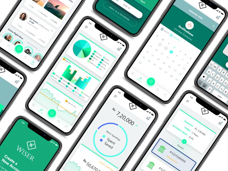 Wiser App financial app finance fintech ux design ui