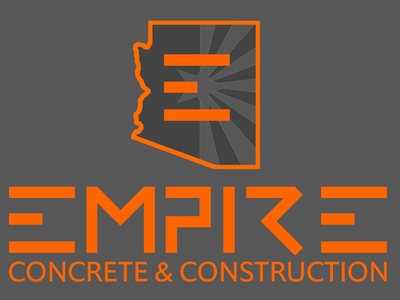 Empire Concrete & Construction flat logo letterhead wireframes ux design branding