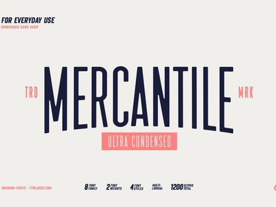 Mercantile Ultra Condensed bold font display font family display typography logo font