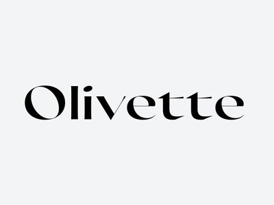Olivette font typeface font family display typography airy