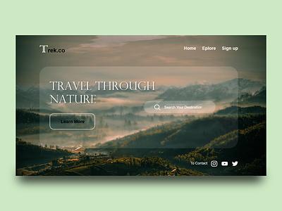 Trek.co-Landing page web landing page design homepage design flat website icon typography ux ui design webdesign