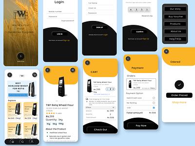 TWF-mobile application illustration art icon homepage design typography app ux ui design