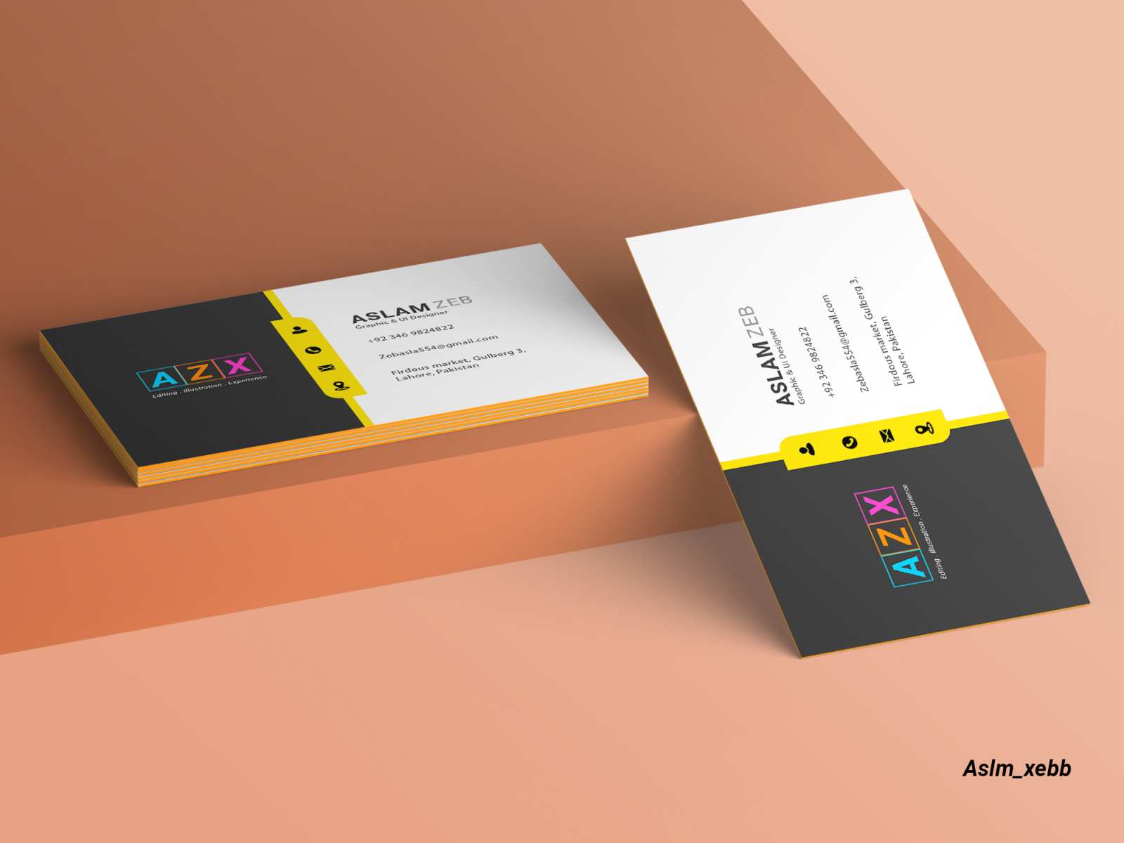 Business Card Graphic Designer By Aslm Xebb On Dribbble,Watercolor Small Simple Owl Tattoo Designs