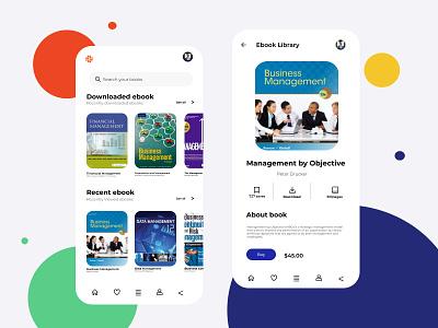 Ebook app design web ui