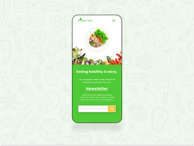 Health food store Landing Page - Mobile