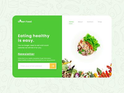 Health food store Landing Page - Desktop