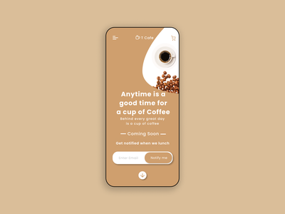 A Coffee Shop Coming Soon Landing Page - Mobile