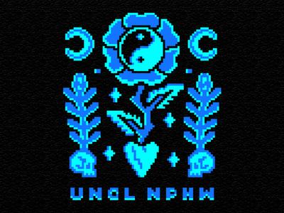 Love flat vintage tattoo skull pixelart pixel logo illustration design branding