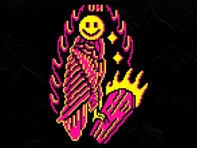 Smile vector flat vintage tattoo pixelart pixel logo illustration design branding
