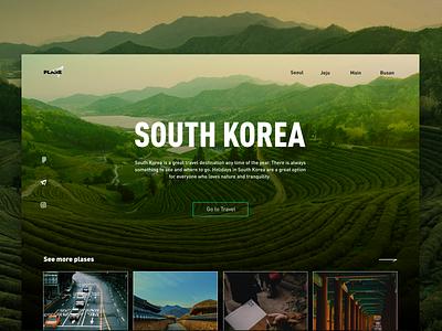 South Korea korea traveling ui design