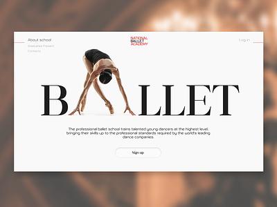 National Ballet Academy. academy inspiration ballet ui design
