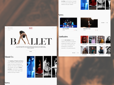 Ballet Academy. inspiration academy ballet ui design
