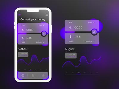 Currency Converter 004 converter calculator currency converter dailyui app mobile inspiration ui design