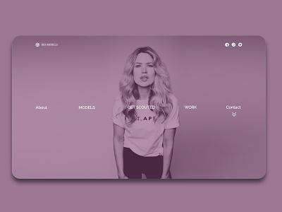 Modelling Agency Landing Page web ux ui design