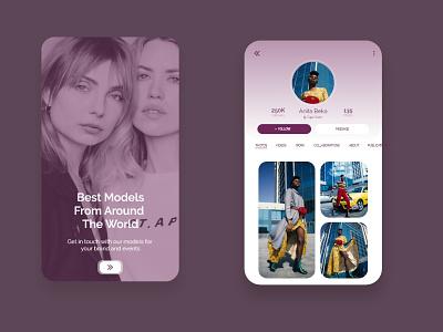 Model Booking App Ui app ux ui design