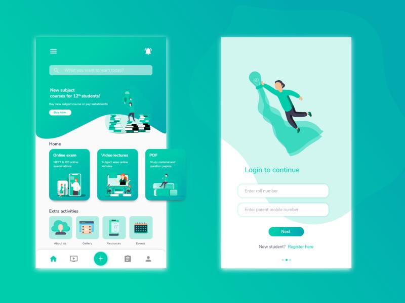 Eduapp redesign:Online learning platform icon animation logo illustration branding web app ux ui design