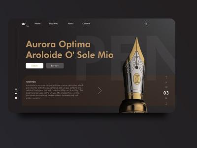 Pen shop concept: Web design website concept website design pen ecommerce app illustration icon branding animation web app ux ui design