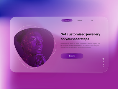 Jewelry Shop Concept UI animated gif website concept webdesign medical app website design logo ecommerce app illustration icon branding animation web app ux design ui
