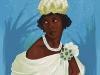 A Warrior Queen texture drawing painting digital digitalart procreate cartoon design fashion concept art illustration african queen queen