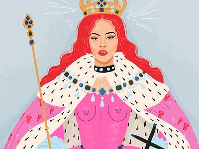 The Queen women flat vector character design art drawing fashion cartoon concept art vector illustration