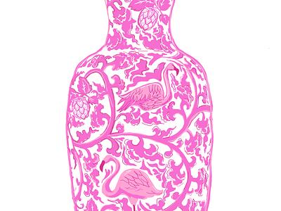 Hops and Flamingoes pattern photoshop fashion procreate illustration