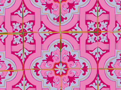 Portuguese Tile tile procreate flat vector drawing fashion vector illustration