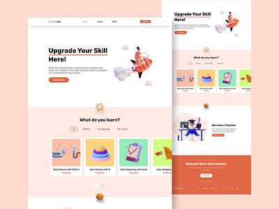 Courserve : Online Course design web design uiux ux ui