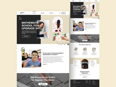 Mathskill School : UI/UX Web Design web design design ux uiux ui