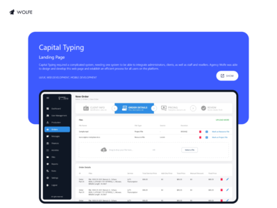 Capital Typing logo graphicdesigner adobe ux ui illustrator graphicdesign design dribbble behance