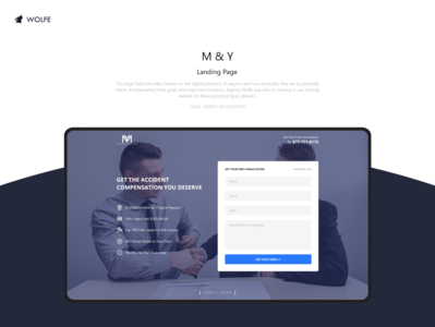 M&Y Landing Page logo graphicdesigner adobe ux ui illustrator graphicdesign design dribbble behance