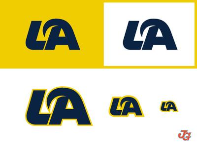 LA Rams Monogram typography logotype rebrand horn losangeles rams nfl branding monogram logo