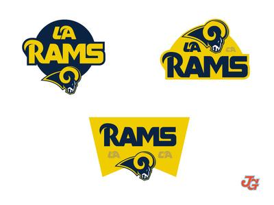 LARams Badges logotype logo type rams nfl badges