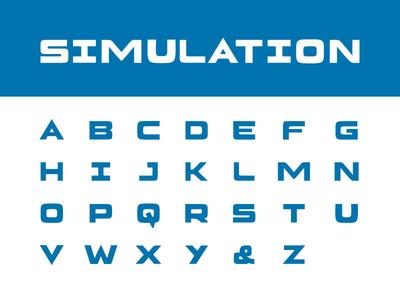 Capsim Logo Type - Simulation type design typeface logotype type