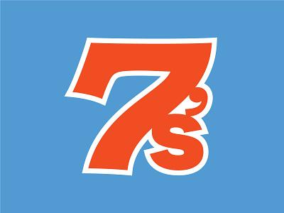 7's Avatar blue orange sevens 7 avatar nfl football branding logo typography