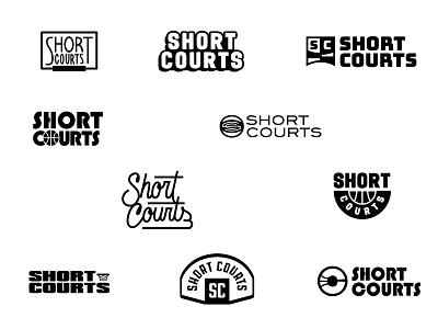 Short Court - Round 1 logo concepts courts court short logotype round 1 concepts black nostalgic retro brand basketball branding logo typography