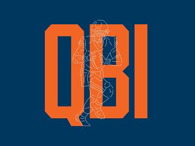 Fields — Chicago QB1 orange navy justin fields fields qb1 bears chicago bears chicago design illustration numbers nfl football logo typography