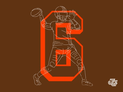 Cleveland #6 qb 6 baker mayfield cleveland browns browns cleveland illustration design numbers nfl football typography
