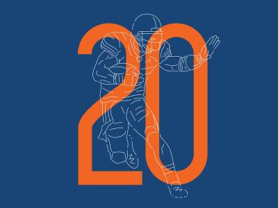 Bear #20 running back rb thomas jones chicago bears bears chicago illustration design numbers nfl football typography