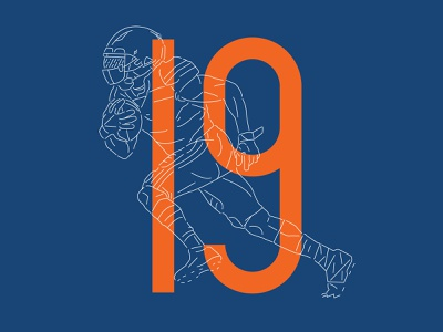 Bear #19 series chicago bears bears chicago illustration numbers nfl football typography