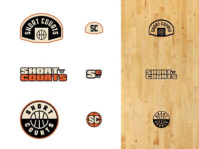 Short Courts — Round 3 nba court diy ball brand basketball logo branding typography