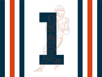 Bear Classic — #1 justin fields fields 1 stripes classic chicago bears bears chicago illustration numbers nfl football typography