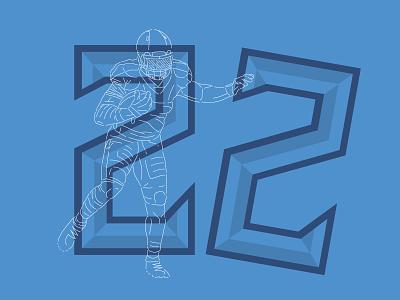 Titan #22 stiff arm derrick henry titanup tennessee titans tennessee titans illustration numbers nfl football typography