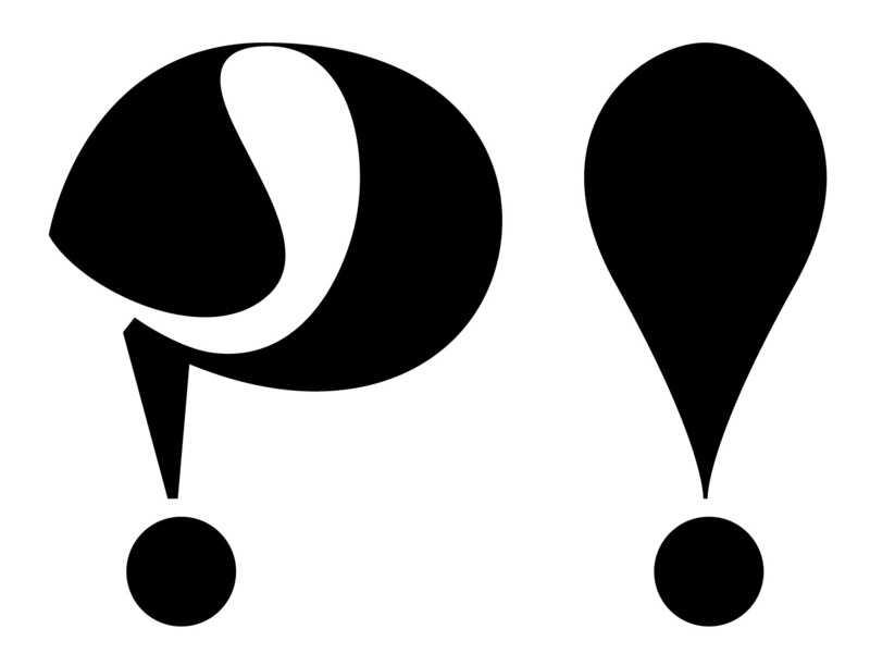 ?! contrast black typography
