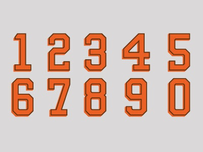 Browns Numerals browns orange numbers typography