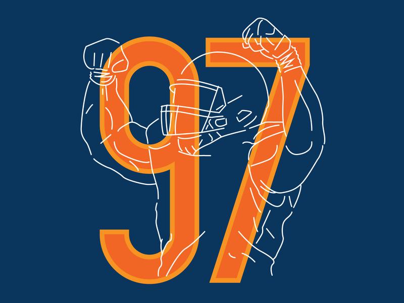 Nick Williams Flex flex bears typography football