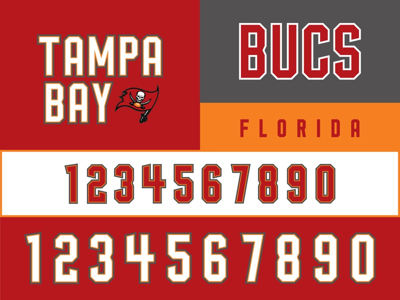 Tampa Bay Bucs Rebrand brand identity florida typography rebrand brand